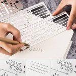 Cymax Acier Inoxydable Règle Dessin règle de peinture pochoirs portable en acier inoxydable de multifonctions avec des motifs variés Graphiques Modèle de Numéro Ruler Stencils,Paquet de 3 de la marque Cymax image 6 produit