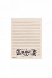 D'Addario Bowed Blocs de papier manuscrit Archives, 12 portées, 50 feuilles de la marque D'Addario image 0 produit