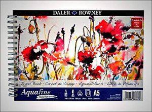 Daler Rowney–Aquafine Texture–Livre de voyage–A5à spirale pour–12feuilles–300g/m²–Grain Fin–sans acide de la marque Daler Rowney image 0 produit