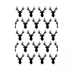 Darice Pochoir pour Gaufrage Têtes de Cerfs, Plastique, Transparent, 14,6 x 10,8 x 0,5 cm de la marque Darice image 0 produit