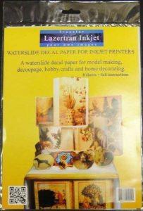 Décalcomanies Lazertran A3 de 4 feuilles de Papier calque pour imprimante à jet d'encre de la marque Lazertran image 0 produit