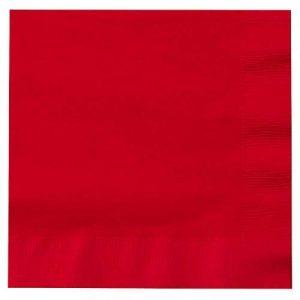 De Sortie–1000x Rouge 2plis 33cm 4plis serviettes Serviettes en papier tissu personnalisés pour anniversaires mariages fêtes toutes les occasions de la marque Thali Outlet Leeds image 0 produit