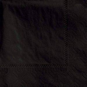 De Sortie–250x Noir 2plis 33cm 4plis serviettes Serviettes en papier tissu personnalisés pour anniversaires mariages fêtes toutes les occasions de la marque Thali Outlet Leeds image 0 produit