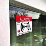 Decooo.be Autocollants dissuasifs Alarme - Système électronique - Lot de 12 - Dimensions 7,4 x 5,2 cm de la marque Decooo.be image 4 produit
