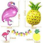 Décoration de fête de plage hawaïenne, accessoires de fête d'été tropicales MMTX Luau Hawaii Thème Party avec des ballons d'hélium d'ananas de Flamingo, bannière Decor Bunting Bunting et ballons de fête en latex Pack de 23 de la marque MMTX image 1 produit