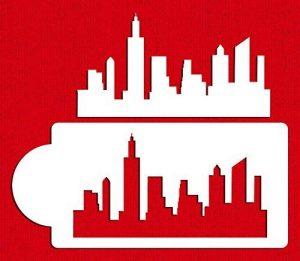 Designer Pochoirs C757Horizon de New York à gâteaux Pochoir et modèles, Beige/semi-transparent de la marque Designer Stencils image 0 produit