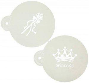 Designer Pochoirs Grand Couronne de princesse gâteau Pochoir, Beige/semi-transparent de la marque Designer Stencils image 0 produit