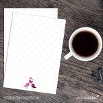 """'# detailverliebt Motif romantique papier/Papier à lettre """"Oiseaux, 50feuilles Format DIN A4–Oiseaux amoureux, cœur, papier à lettre, romantique, amour de la marque #detailverliebt image 1 produit"""
