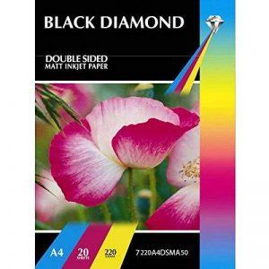 Diamant Noir A4double face papier photo jet d'encre Mat 220g/m²–50feuilles de la marque Black Diamond image 0 produit