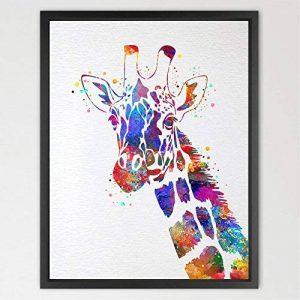 Dignovel Studios Impression Aquarelle Animal Girafe Décoration Murale pour Décor Intérieur Chambre à Coucher Enfant Garçon Fille Art N421 de la marque Dignovel Studios image 0 produit