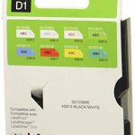 Dymo D1 Étiquettes Standard 9 mm x 7 m - Noir sur Blanc de la marque DYMO image 1 produit