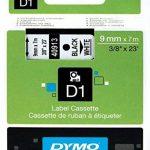 Dymo D1 Étiquettes Standard 9 mm x 7 m - Noir sur Blanc de la marque DYMO image 2 produit