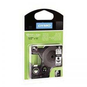 Dymo S0718040 Étiquettes Autocollantes D1, Rouleau de 12mmX3.5M, Impression en Noir Sur Fond Blanc, pour Imprimantes Labelmanager de la marque DYMO image 0 produit