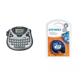 Dymo - S0758360 - Letratag LT-100T - Etiqueteuse de Bureau Clavier AZERTY + 2 Rubans LetraTag Plastique 1,2 cm x 4 m - Noir sur Blanc de la marque image 0 produit