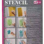 Efco Pochoir feuilles/1design DIN A 5, en plastique, transparent de la marque Efco image 1 produit