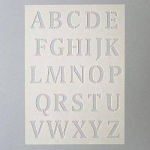 Efco Pochoir Lettres Grandes 26Designs, Plastique, Pransparent, A5 de la marque Efco image 0 produit