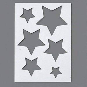 Efco Pochoir étoiles 6designs, plastique, transparent, A5 de la marque Efco image 0 produit