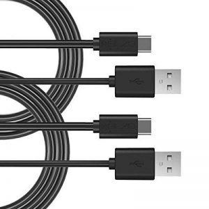 Elzo [2 Pack] Câble USB Type C à USB 3.0 1M Câble USB C pour Synchronisation et Recharge de MacBook Pro 2016 Google Chromebook Pixel Nokia N1 Tablet LG G5/V20 Nexus 5X/6P OnePlus 2/3 HTC 10, Nokia N1 et plus (1M/2 Pack) de la marque ELZO image 0 produit