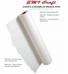 EMI Craft - Rouleau de papier calque - Blanc papier calque Rouleau 40/45gsm 0,33 x 50 m transparent,made in germany de la marque EMI Craft image 0 produit