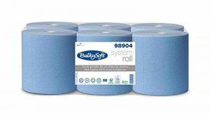 Encombrants doux BS 98904Serviette en Papier Rouleau pour automatique, 2plis, allumettes, BS 01140, 21cm, 200m Bleu (lot de 6) de la marque Bulky Soft image 0 produit