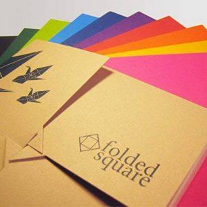Ensemble cadeau papier Origami 100 feuilles couleur Pantone, couleurs contemporaines de la marque Folded Square Origami image 0 produit