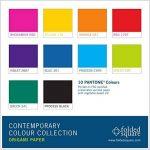 Ensemble cadeau papier Origami 100 feuilles couleur Pantone, couleurs contemporaines de la marque Folded Square Origami image 2 produit