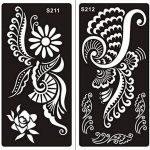 Ensemble de 10feuilles de pochoirs designs henné à usage unique pour le corps. Convient également aux tatouages pailletés ou à l'aérographe de la marque Beyond Paradise image 3 produit