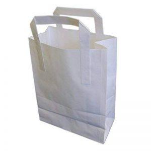 Eposgear Lot de 50sacs en papier Kraft pour repas à emporter Blanc TailleL 25,4 x 40 x 30,5cm de la marque EPOSGEAR image 0 produit