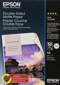 Epson Papier Photo Mat Couché Double Face A4 210 X 297 Mm - 50 Feuilles de la marque Epson image 0 produit