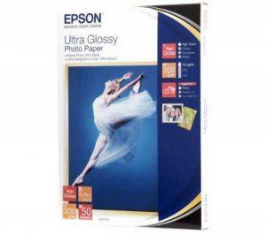 EPSON Papier photo ultra glacé - 300g/m² - 13x18 - 50 feuilles (C13S041944) de la marque Epson image 0 produit