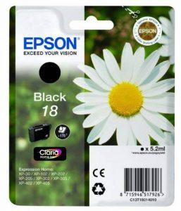 Epson Pâquerette 18 T1801 Cartouche d'encre Noir de la marque Epson image 0 produit