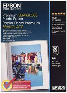 Epson Premium Semigloss Photo Paper - Papier Semi-Brillant A4 210x297 Mm - 20 Feuilles de la marque Epson image 0 produit