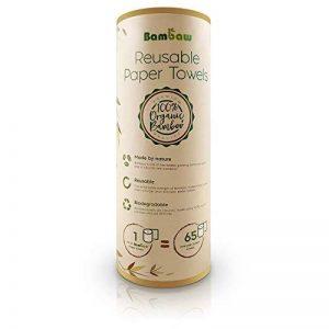 Essuie-tout lavable | Papier Absorbant réutilisable en bambou | Multi-usage | 100% naturel et biologique | Antibactérien | Résistant, épais et absorbant | 20 feuilles réutilisables | Bambaw de la marque Bambaw image 0 produit