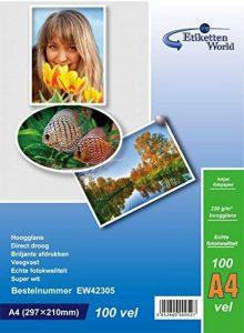EtikettenWorld - 300 Feuilles Papier Photo A4 Premium Haute Brillance 230g de la marque EtikettenWorld image 0 produit