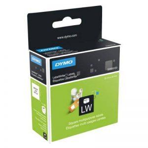 Etiquettes Multi-usage DymoLW, 25 mm x 25mm (Rouleau de 750Etiquettes), Impression en Noir sur Fond Blanc, Auto-adhésives, de la marque DYMO image 0 produit