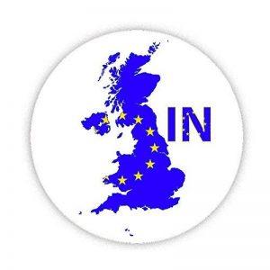 EU Référendum Vote–en–On EU Drapeau britannique sur carte Imprimé conçu sur mesure 58mm Miroir compact rond. fantaisie Miroir de maquillage Idéale pour votre sac à main. Kaboom cadeaux de la marque KABOOM GIFTS image 0 produit
