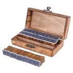 Everpert Style rétro Motif Nombre de lettres de l'alphabet en bois Stamp Lot de 30pcs–Bois + Bleu de la marque Everpert image 4 produit