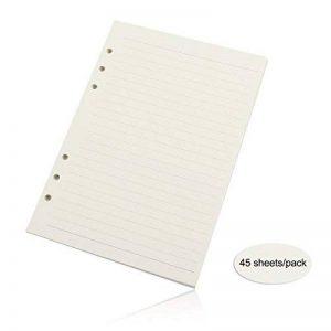 Evilandat Notepad Bloc Agrafe Perfore Bloc-notes A6 A Feuilles Détachables Vendu à l'Unité Vierge Papier Antique De Mariage Etiquette Carte Cadeau Papier Ligne 95*172mm 3 Pcs de la marque Evilandat image 0 produit