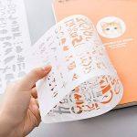 EVNEED 12 pièces Chiffre et Letter Pochoir Alphabet Peinture Réutilisable Souple Majuscule Minuscule Caractère de 1 à 3 cm pour Scrapbooking Carte d'Anniversaire Décoration Murale et d'artisanat de la marque EVNEED image 4 produit