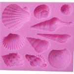 EVRYLON ➣ Moule en Silicone pour l'utilisation Alimentaire avec la Forme de Di 10 Coquillage - Snail Escargot Coquilles de Mal de mer de la marque EVRYLON image 1 produit