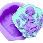 EVRYLON ➣ Moule en Silicone à Usage Artisanal avec la Forme D'une Sirène sur Coquillage - Fond Marin - Algues - Hippocampe de la marque EVRYLON image 1 produit