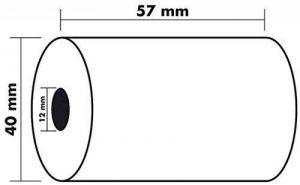 Exacompta - 10 rouleaux Bobines pour tickets de carte bancaire et terminal de paiement 57x40x12x18 - 1 pli papier thermique de la marque Exacompta image 0 produit