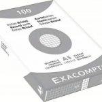 Exacompta 13208E Etui 100 Fiches Bristol Blanc 148/210 5x5 de la marque Exacompta image 1 produit