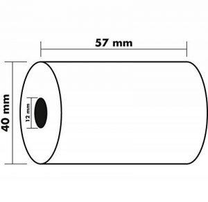 Exacompta 40349E Lot de 5 Bobines Papier thermique sans BPA 57 x 40 x 12 mm de la marque Exacompta image 0 produit