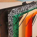 Exacompta 548900E Carton a dessin kraft noir vernis avec elastiques et poignee 52x72cm - raisin de la marque Exacompta image 1 produit