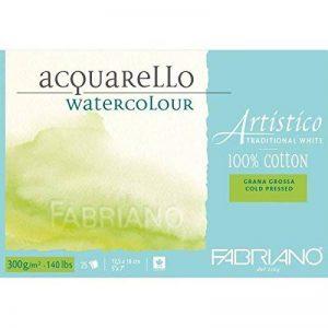 Fabriano ATW BL 4CO 25F GT Papier aquarelle 12,5 x 18 cm Blanc de la marque Fabriano image 0 produit