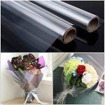 Faburo 4x 3m * 40cm en cellophane Transparent fleuriste Wrap Wrap de la marque Faburo image 3 produit
