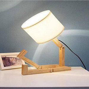 FACAIG Robot en bois lampe de table Nordic Accueil Chambre lampe de chevet Salon pliage japonais personnalité lampe de table décoratif de la marque FACAIG image 0 produit