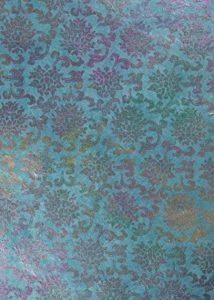 Fait à la main–3feuilles de papier cadeau X (70x 50cm)–tibétain Rose Bleu roi–Fait main népalais en papier Lokta – de la marque Tigers On The Loose image 0 produit