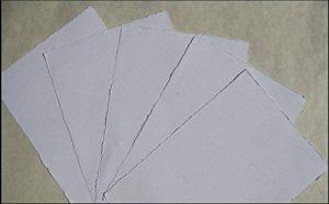 Fait main Papier vergé Papier Aquarelle A310feuilles/Set Blanc Naturel 200g/m² linters en coton de la marque bhutanpaperarts image 0 produit